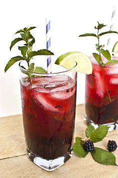 Blackberry Mojito Cocktail Recipe - Transient Expression