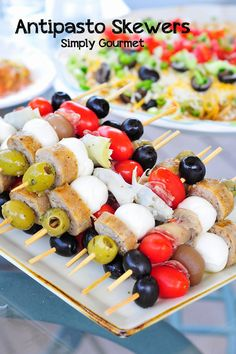 Antipasto Skewers #SundaySupper | Simply Gourmet