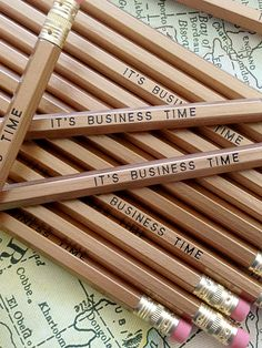 It's Business Time Pencil Pack | Earmark Social
