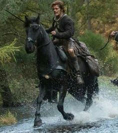 You guys really need to be watching Outlander Jamie (Sam Heughan) rides