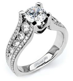From Michael M. Collection Michael M Handcrafted pave and channel set diamond ring