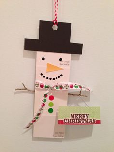 My version of the paint chip snowman. So proud! :)