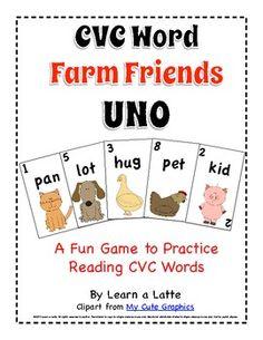 CVC Word Farm Friends UNO