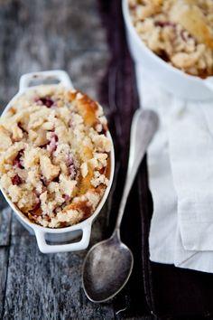 plum crumble + ginger ice cream