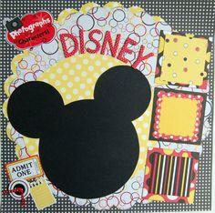 #papercraft #scrapbook #layout #Disney layout