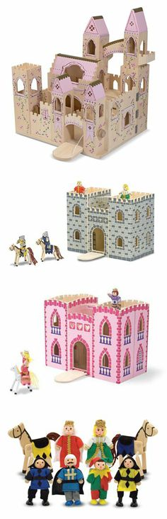 Lower the drawbridge and let the fun begin! Our castles are fully detailed with lots of great features and our royal families are ready to be part of the adventure. See the full collection: http://www.melissaanddoug.com/toy-castles