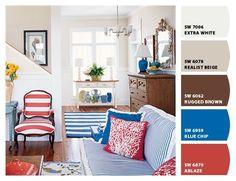Coastal Color Palette for Rooms | Found on coastalliving.com