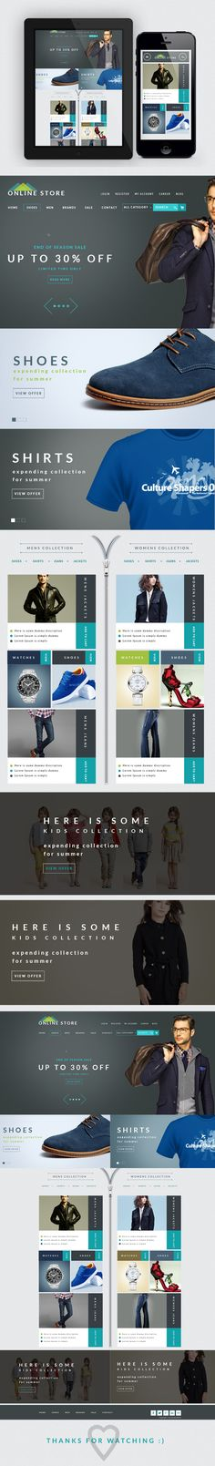 Online store on Behance