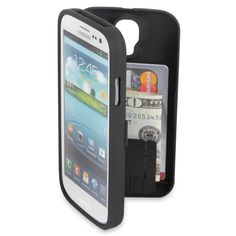 The Samsung Galaxy S3/S4 Polycarbonate Wallet - Hammacher Schlemmer $34.95