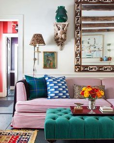 1stdibs Love the stripped sofa