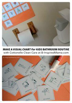 DIY Visual Schedule for Kids Bathroom Habits - #sponsored #CtnlCareRoutine #PMedia - B-Inspired Mama - #parenting #kids #binspiredmama #kbn