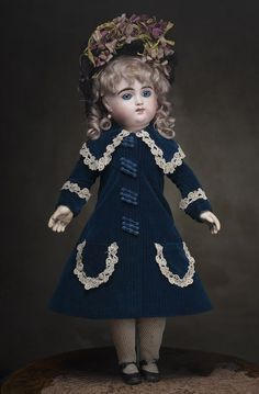 Superb  Very Rare Antique French Henri Alexandre marked H.A.  Bebe doll c.1880