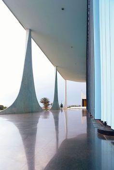 Cathedral of Alvorada palace by Oscar Niemeyer