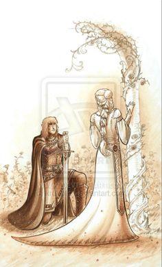 Guenievre et Lancelot by krukof2