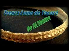 """Trenza Lomo de Yacaré de 10 tientos - """"El Rincón del Soguero """" - YouTube"""