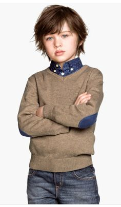 Brown v-neck sweater