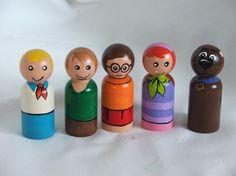 Zelda - Scooby Doo wooden peg dolls