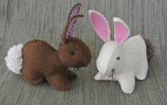 bunni pattern, craft, templat, felt bunni, bunni hous, bunni rabbit, easter bunni, felt rabbit pattern, easter bunny