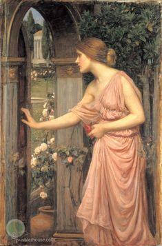 John William Waterhouse: Psyche Entering Cupids Garden - 1905
