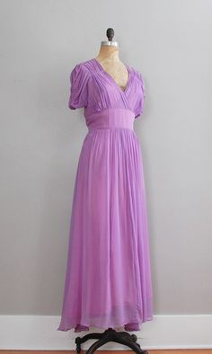 vintage 1930s Pre de Lavande dress. love. $188