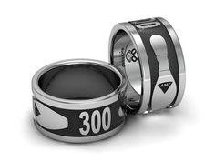 Custom ring for Bowling a 300 game  www.duckbandbrand.com