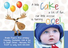 MOOSE BIRTHDAY invitation  DIGITAL file  by uniquewv on Etsy, $10.50