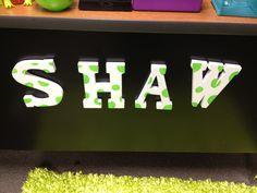 DIY magnetic wooden letters for my desk