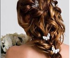 Up do with butterflies.
