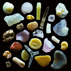 250x magnification of grains of sand