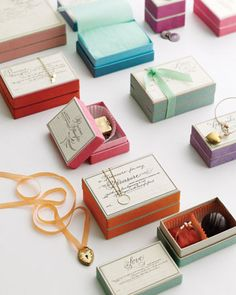 Gift boxes for chocolate.