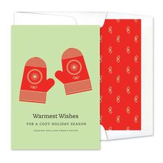 Winter Mittens Greeting Cards - Real Simple (finestationery.com)