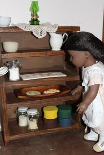 """MADE: Pieces For Reese: 18"""" Doll: Dining Room Hutch"""