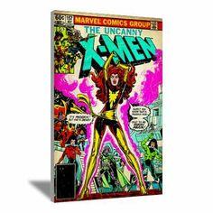 "The Uncanny X-Men ""Dark Phoenix"" Canvas Art #jeangrey #darkphoenix #wallart #xmen #phoenixsaga wall art, canva art, heart comic, canvas art, wallart xmen, uncanni xmen, jeangrey darkphoenix, art jeangrey, canvases"
