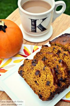 Nutiva Pumpkin Chocolate Chip Bread