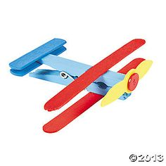 Clothespin Airplane Craft Kit $6.25 for 12 sets. (Easy to DIY!)