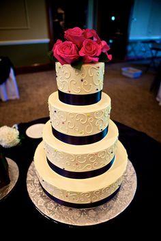 w/o flowers... navy wedding cakes   Navy Blue And White Cakes   A Wedding Cake Blog
