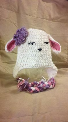 Crocheted Lamb Hat - Cdubb needs one for Easter!