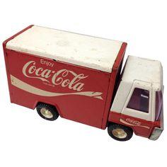 cocacola stufftreasur, metal truck, vintage metal, vintag metal