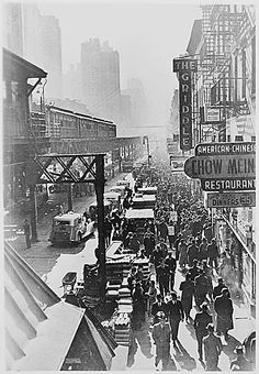 NYC 6th Ave. elevated railway.  According the U.S. Census Bureau, the population of New York City was 7.5 million in 1940, making NYC the most populous city at that time. It remains at the top even today, with the 2010 census showing over 8 million inhabitants.