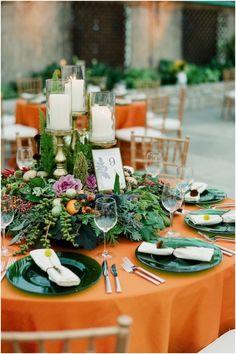 Imaginative Low Centerpiece Wedding Reception Decor