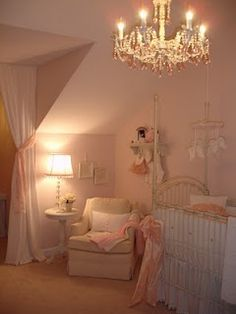 Love this baby girl nursery!
