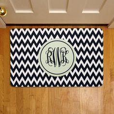 Chevron Monogram Doormat | Personal Creations