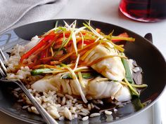 Asian Steamed Fish from FoodNetwork.com