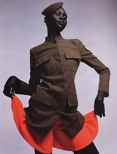 anotherafrica:  Model Alek Wek, serving 'Military Realness'. #fashion