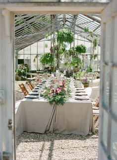 tablescape in Greenhouse