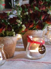 my french country home: table centre for a pre-christmas lunch