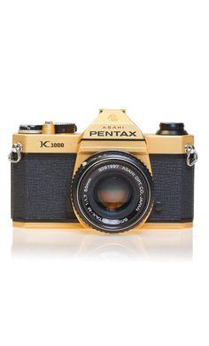 Gold Pentax K1000 SLR Camera #product_design