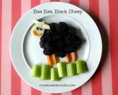 Baa Baa Black Sheep Snack (from Creative Kid Snacks)