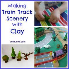 Making Train Track Scenery with Clay from Craftulate