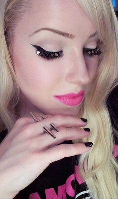 FAUX + Dev Pyramid Stud Lashes  MAC Iris Apfel Pink Pigeon Lipstick